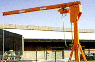 Post form jib crane