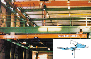Suspension type overhead crane